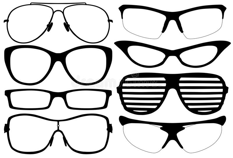 Glasses Silhouette royalty free illustration