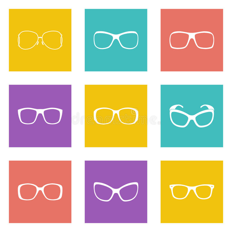 Glasses and sunglasses royalty free illustration