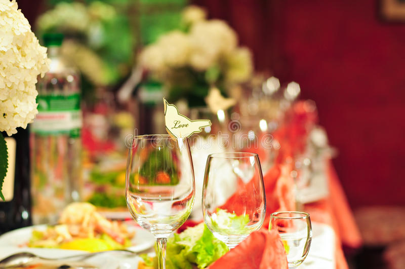 Download Glasses On  Table Stock Photos - Image: 15269823