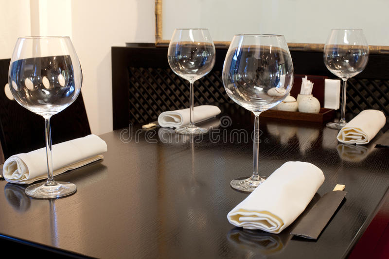 Download Glasses On Table In Sushi Restaurant Royalty Free Stock Photo - Image: 27107805
