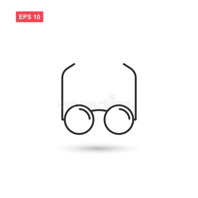 Glasses vector line icon design isolated royalty free illustration