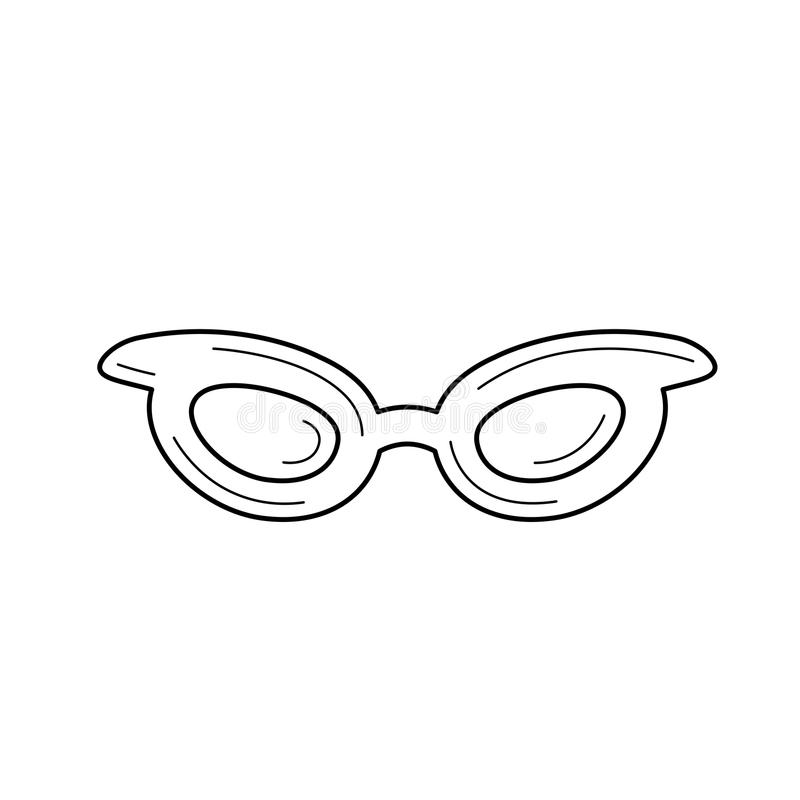 Glasses line icon. royalty free illustration