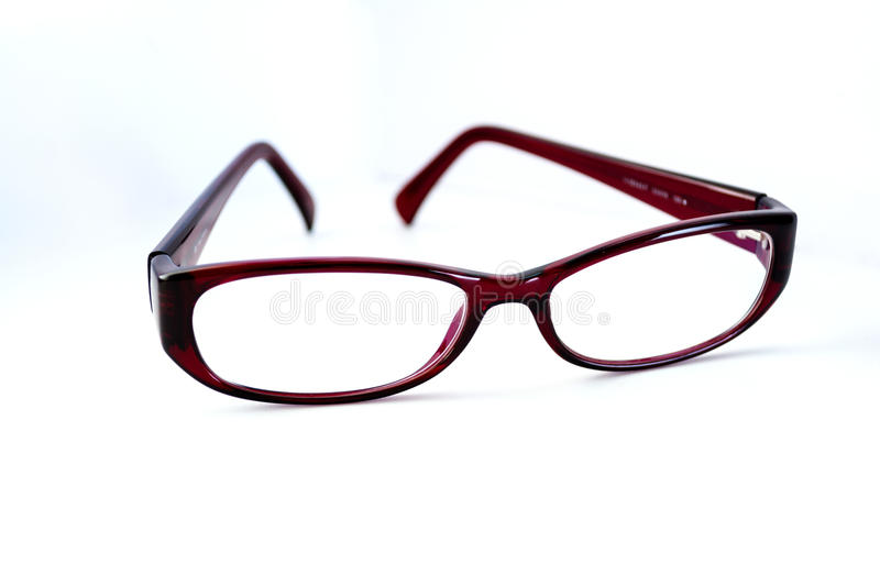 Glasses on a white background stock images