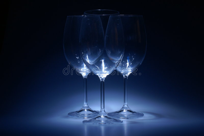 Glasses for wine royalty free stock images