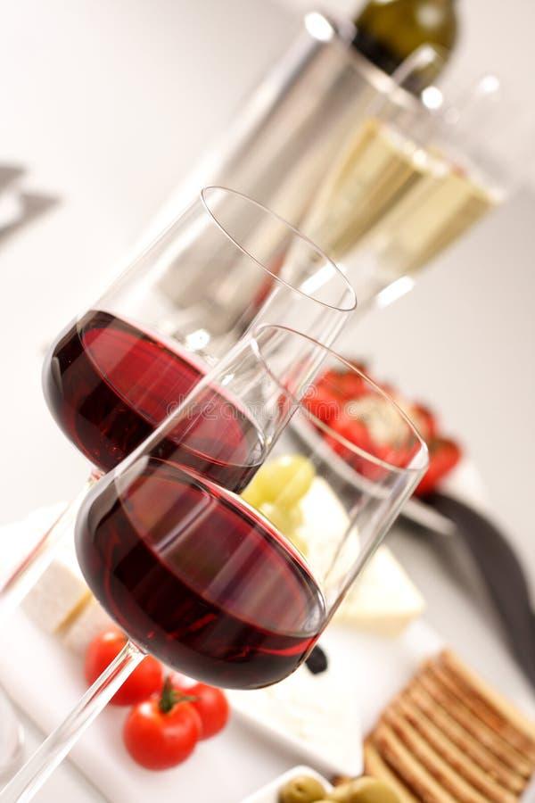Glasses of wines stock photo