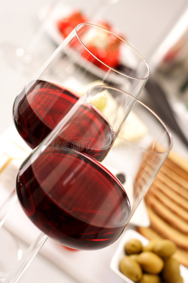 Glasses of wines royalty free stock image