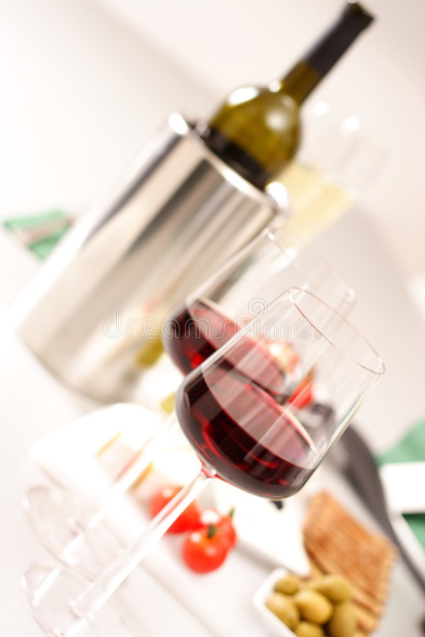 Download Glasses Of  Wines With Bottle Stock Image - Image: 1506841