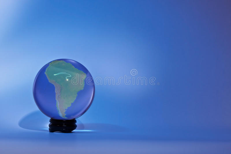 Glassglobe Ameryka Południowa zdjęcia stock