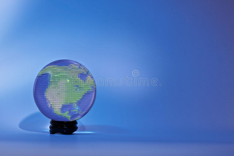 Glassglobe Nordamerika arkivbilder