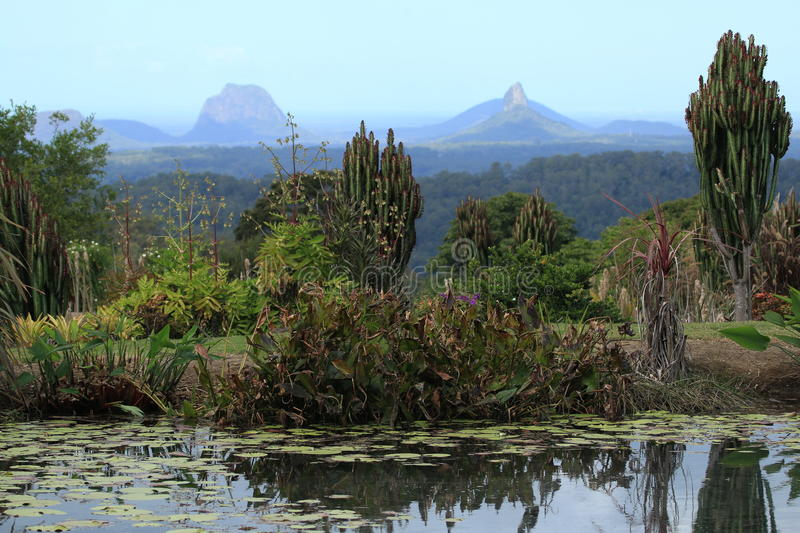 Glasshouse Mountains. The magnificent Glasshouse Mountains in Queensland, Australia stock images