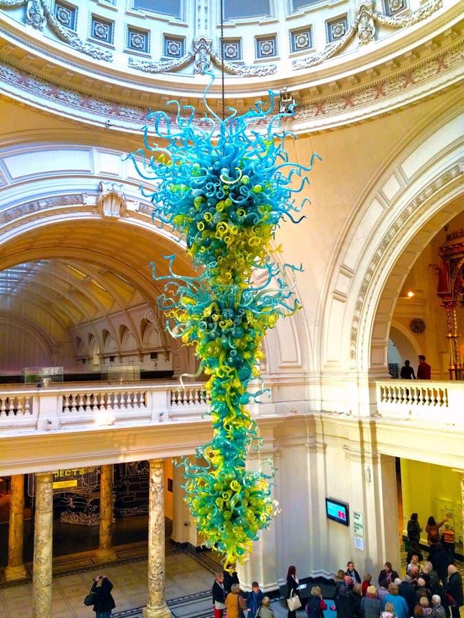 Glasskulptur in Victoria und in Albert Museum stockbild