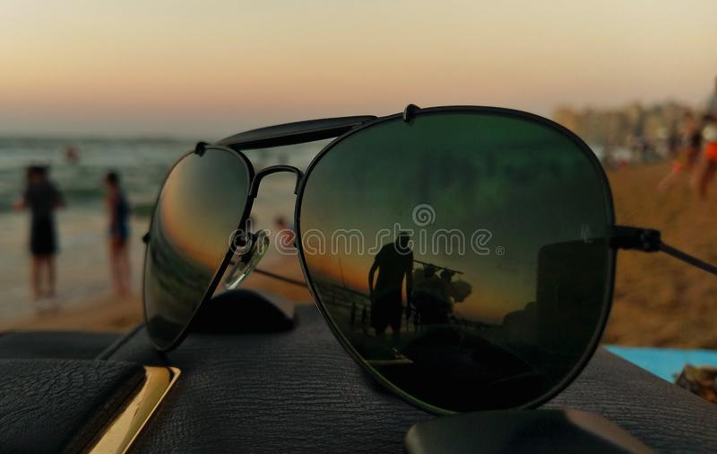 Glasspiegel stockbild