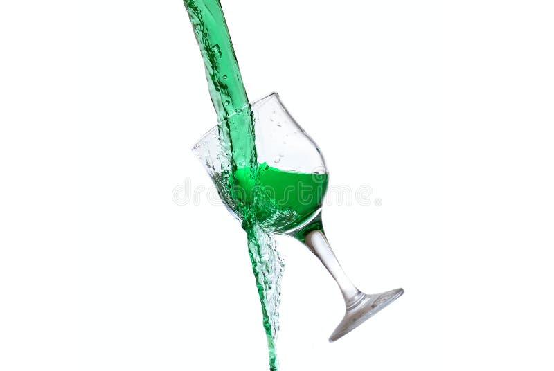 Glasspritzen lizenzfreie stockfotos