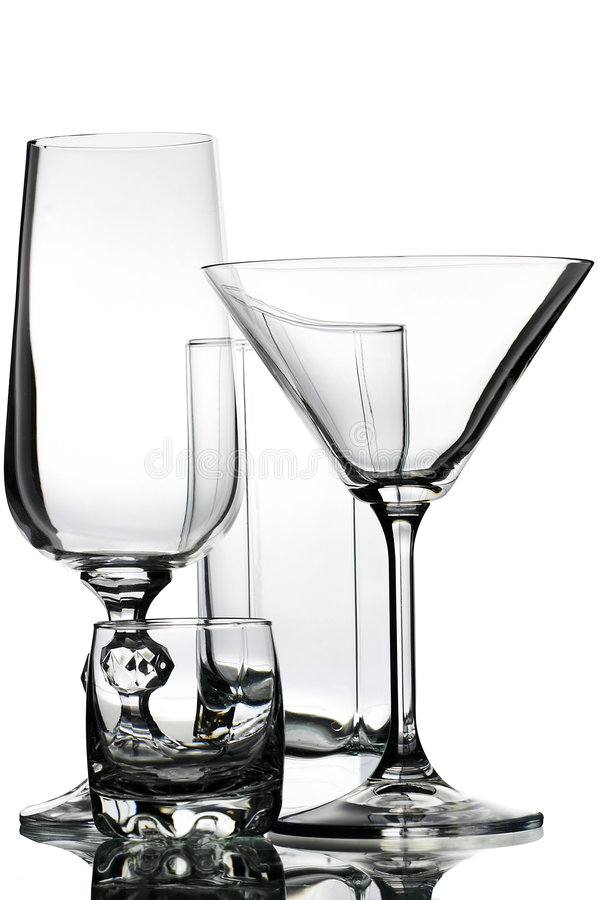 Glassware stock images