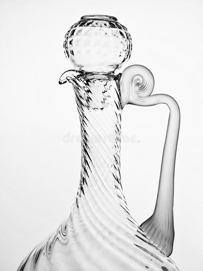 glassware abstrakcjonistyczny czarny biel zdjęcie stock