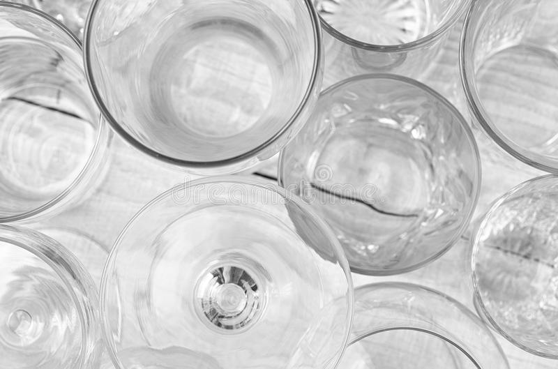 Glassware abstrakt obraz royalty free