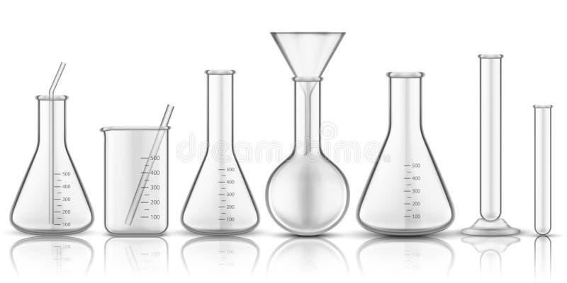 Glassware beaker or measuring glass stock illustration