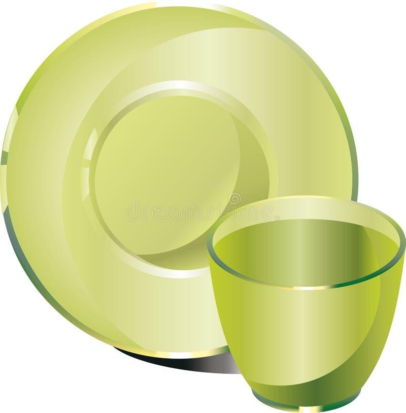 Download Glassware cup saucer stock vector. Image of drinkware - 21886928
