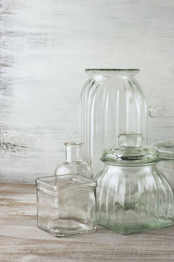 Glassware kolekcja zdjęcie royalty free