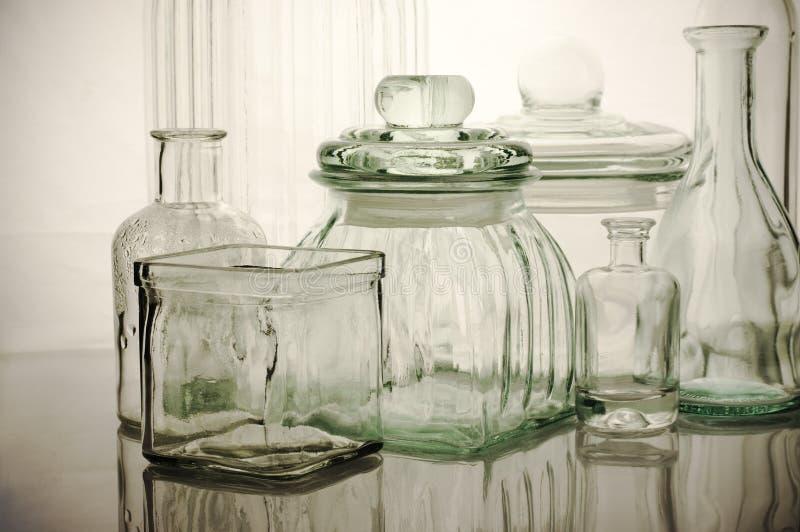 Glassware kolekcja zdjęcia stock