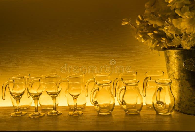 Glassware kolekcja fotografia royalty free
