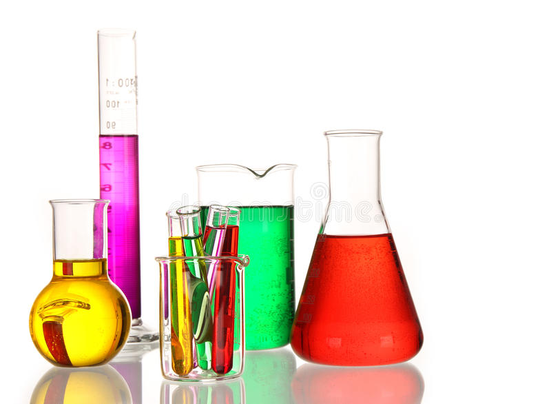 glassware laboratorium zdjęcie stock