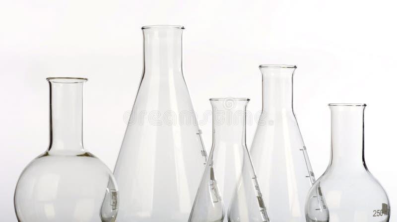 Glassware in laboratory royalty free stock photos