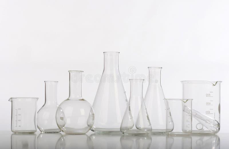 Glassware in laboratory stock photography