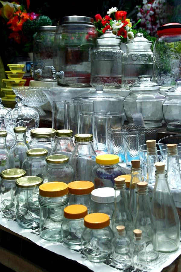 Glassware Sold At A Store In Dapitan Arcade In Manila Philippines Stock Photo Image Of Home
