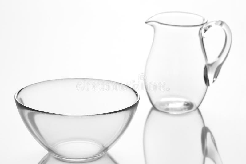 Glasswares stockbilder