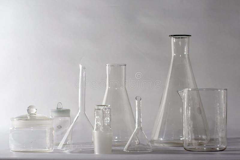 Glasswares do laboratório foto de stock royalty free