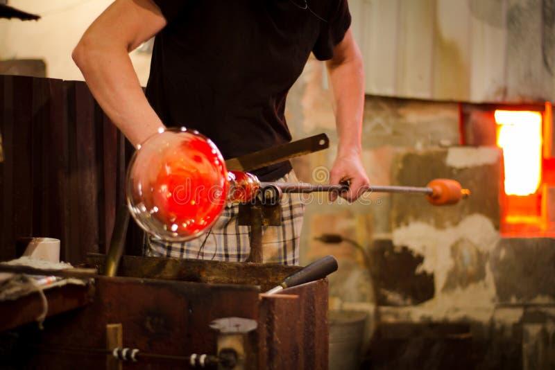 Glassworks proces produkcyjny obraz royalty free
