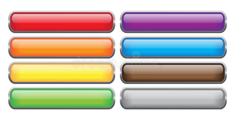 Glassy Buttons Royalty Free Stock Image