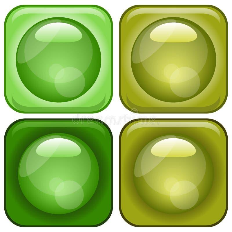 Glassy Icons Set royalty free stock image