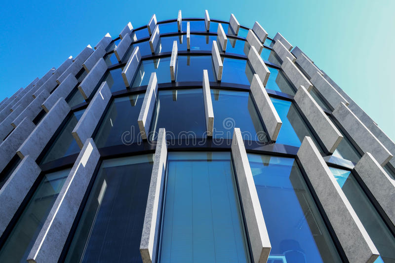 Glassy office building stock images