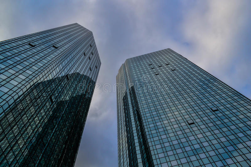 Glassy office towers stock image