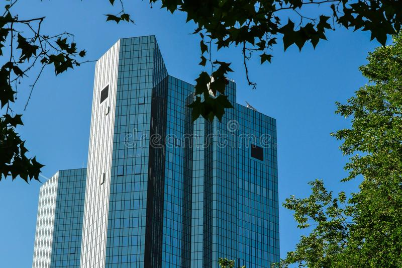 Glassy office towers royalty free stock photos