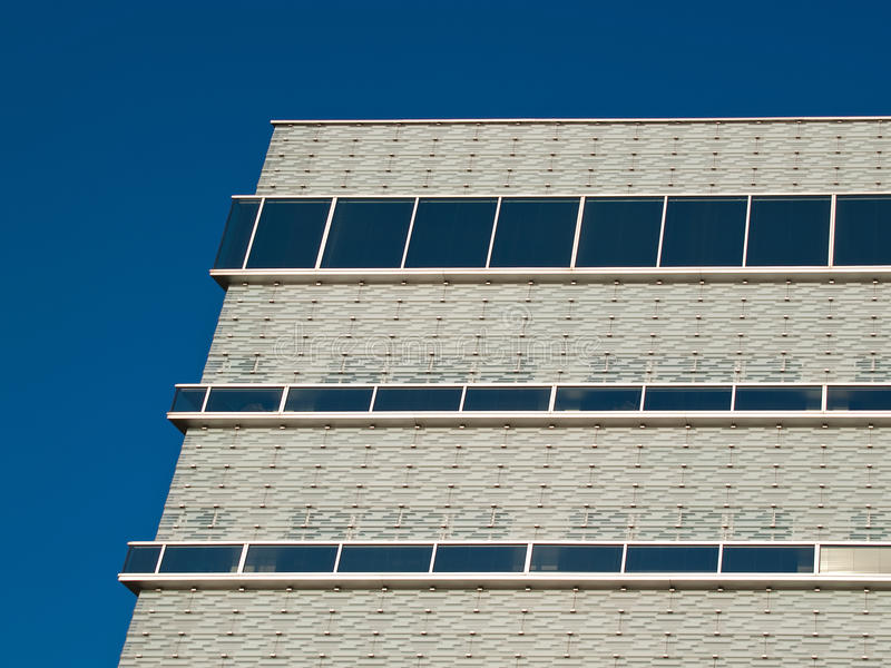 Glassy white facade. An office building with a glassy white facade. Papendorp in Utrecht. Netherlands stock images