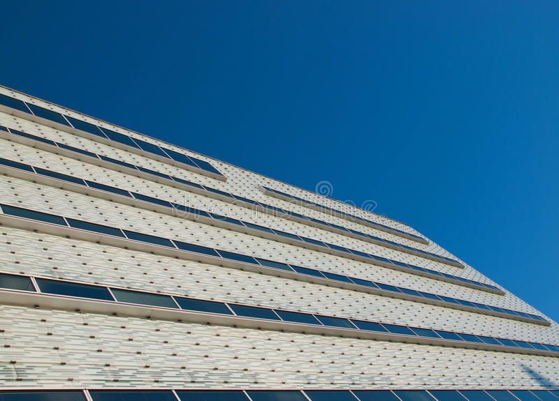 Download Glassy white facade. stock image. Image of blue, windows - 12699449