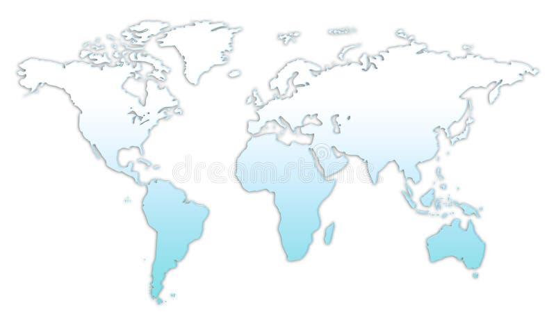 Glassy world map stock photography