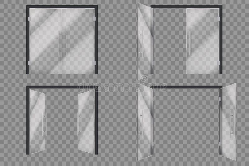 Glastüren E lizenzfreie abbildung