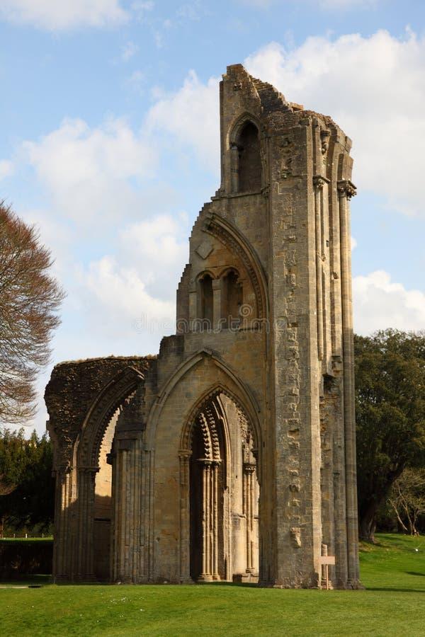 glastonbury的修道院 免版税库存图片