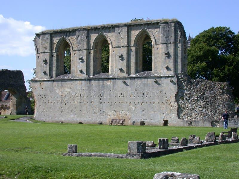 glastonbury abbey royaltyfri foto