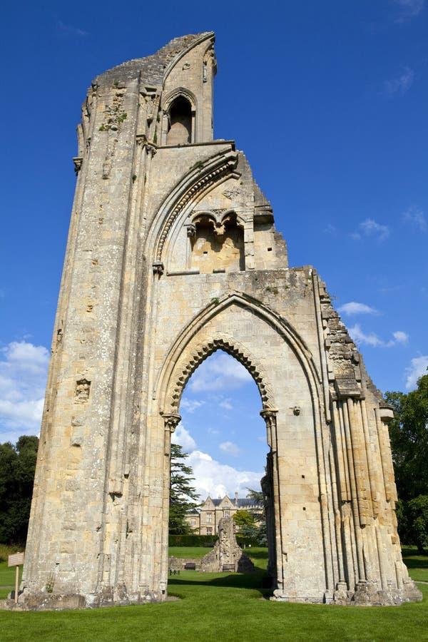 Glastonbury-Abtei lizenzfreies stockfoto