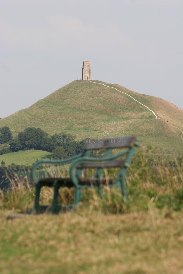 Glastonbury Felsen, England stockbild