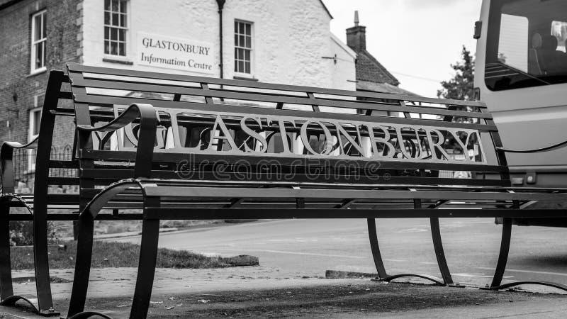 Glastonbury järnbänk royaltyfria foton