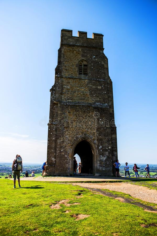 Download Glastonbury Tor On The Hill Editorial Image - Image of legend, fields: 105329465
