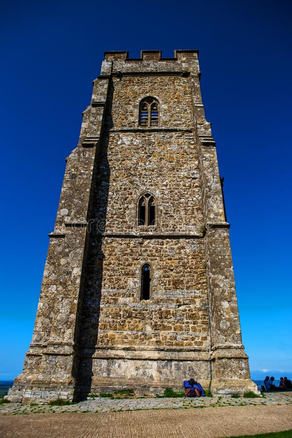 Download Glastonbury Tor On The Hill Editorial Stock Image - Image of fence, fields: 105329554