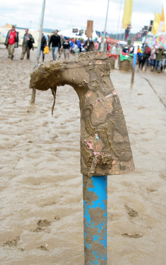 Glastonbury wellie stockbilder