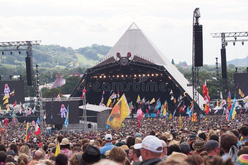 Glastonburyfestival van de Arts. stock foto's